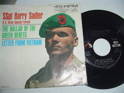 BARRY SADLER - GREEN BERETS - RCA { 1834