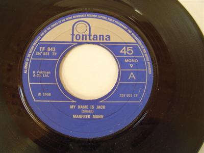 MANFRED MANN - MY NAME IS JACK - FONTANA { 1878