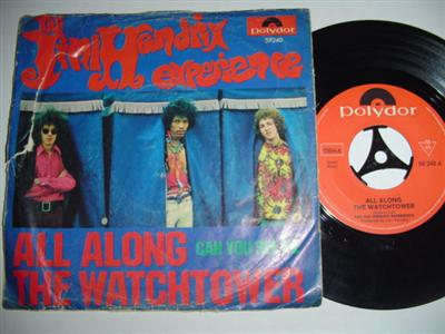 JIMI HENDRIX - ALL ALONG WATCHTOWER - GERMAN PS { 1800