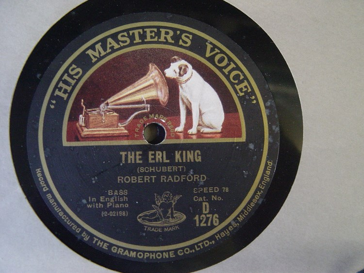 Robert Radford Bass - The Erl King - HMV D.1276