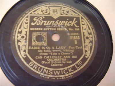 CAB CALLOWAY - EADIE WAS LADY - BRUNSWICK 01643 { 1922