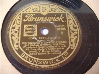 RED NICHOLS - CORN FRED - BRUNSWICK 01805 { 1923