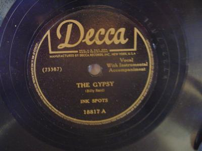 INK SPOTS - THE GYPSY - DECCA 18817 { 1926
