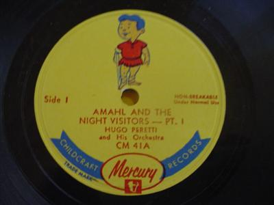 AMAHL THE NIGHT VISITORS - PERETTI - MERCURY { 1928