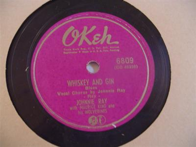 JOHNNIE RAY - WHISKEY & GIN - OKEH 6809 { 1907