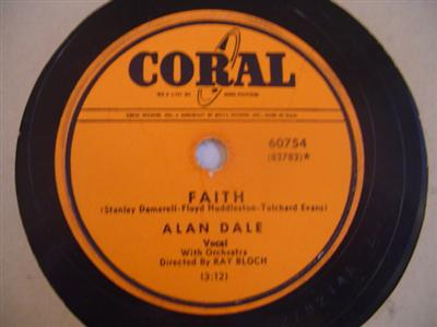 ALAN DALE - FAITH - CORAL 60754 { 1908