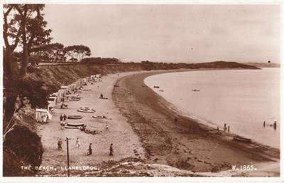 Llanbebrog The Beach - Real Photo