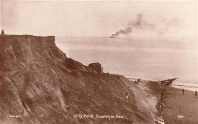 Clacton on Sea Cliff Point - Real Photo