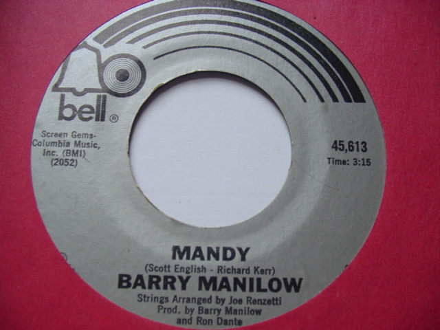 BARRY MANILOW - MANDY - BELL 1974