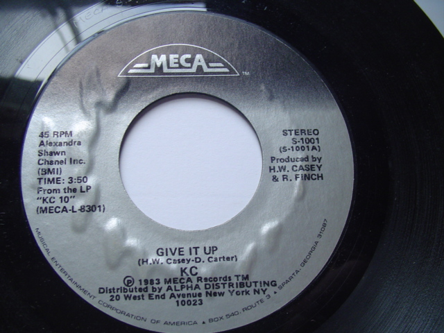 KC SUNSHINE - GIVE IT UP / UPTIGHT - MECA 1983