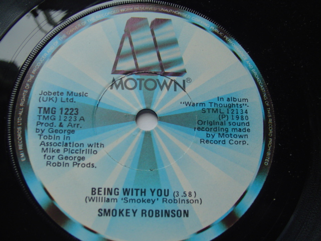 SMOKEY ROBINSON - BEING WITH YOU - MOTOWN 1980