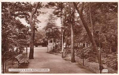 Southbourne - Fishermans Walk - Real Photo