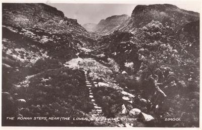 Cwm Bychan - The Roman Steps - Real Photo