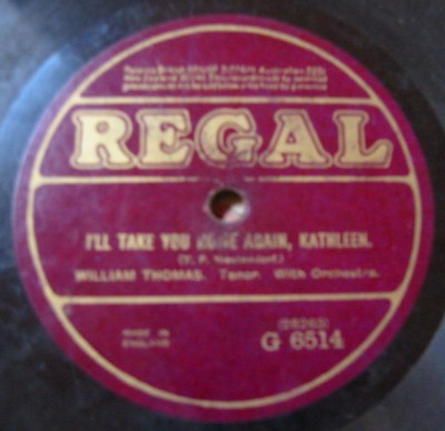 William Thomas - I'll take you home again Kathleen - Regal UK