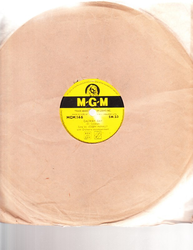 Joseph McNally - Galway Bay - MGM 146 Irish Pressing
