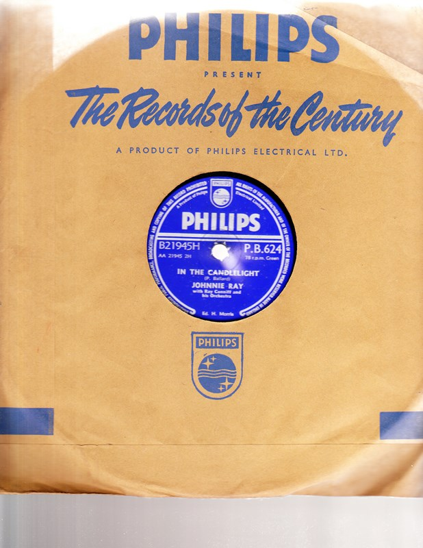 Johnnie Ray - Just walking in the Rain - Philips P.B. 624