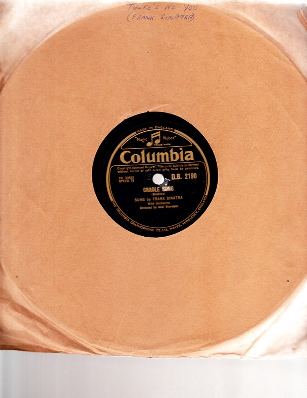 Frank Sinatra - There's no you - Columbia DB 2190 UK