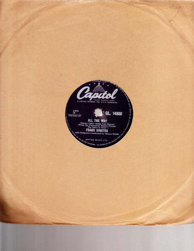 Frank Sinatra - All the way - Capitol CL. 14800