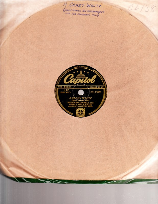 Helen O'Connell Gisele Mackenzie - Crazy Waltz - Capitol CL13839