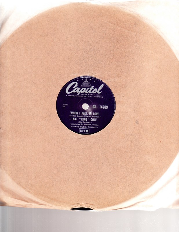 Nat King Cole - When I fall in love - Capitol CL.14709 UK