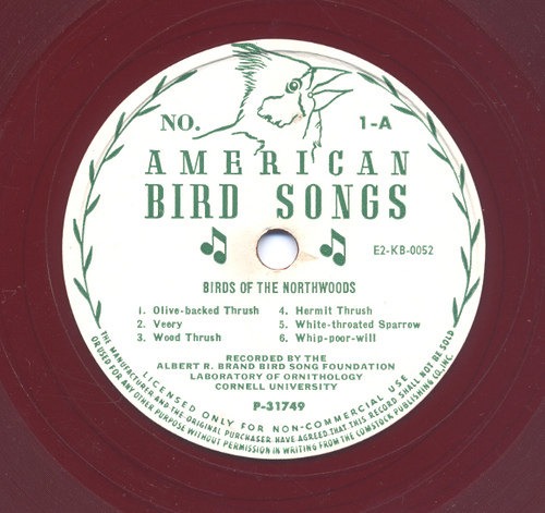 AMERICAN BIRD SONGS - 6 DISC 78RPM SET { 23