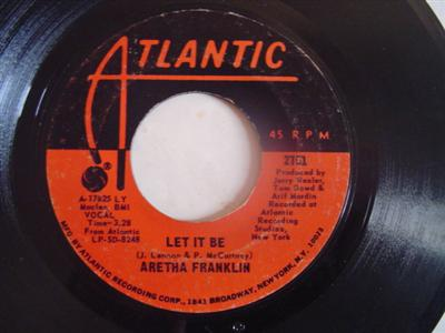 ARETHA FRANKLIN - LET IT BE - ATLANTIC { 2168