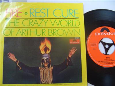 CRAZY WORLD ARTHUR BROWN - FIRE - POLYDOR { 2172