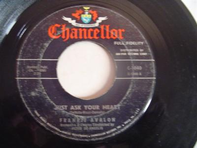 FRANKIE AVALON - TWO FOOLS - CHANCELLOR { 2155