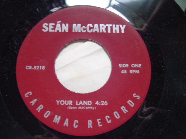 SEAN McCARTHY - YOUR LAND - CAROMAC RECORDS