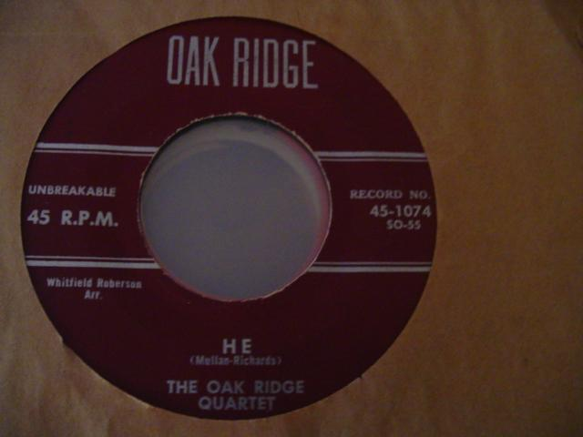 OAK RIDGE QUARTET - OAK RIDGE RECORDS 1074 { 635
