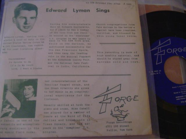 EDWARD LYMAN - FORGE RECORDS 1694 { 659