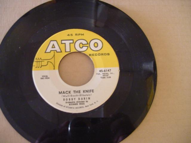 BOBBY DARIN - MACK THE KNIFE - ATCO 6147 # 600