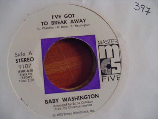 BABY WASHINGTON - IVE GOT TO BREAK AWAY - MASTER 5