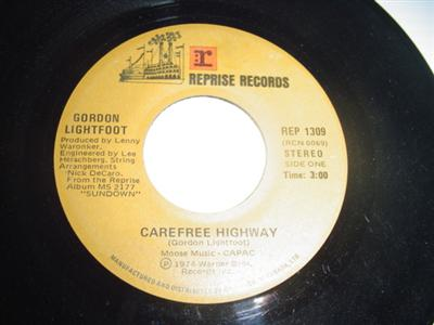 GORDON LIGHTFOOT - CAREFREE HIGHWAY - REPRISE { 2096