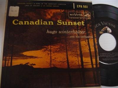 HUGO WINTERHALTER - CANADIAN SUNSET - RCA EP { 2011