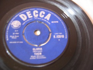 Them - Gloria - Decca Irish 1964