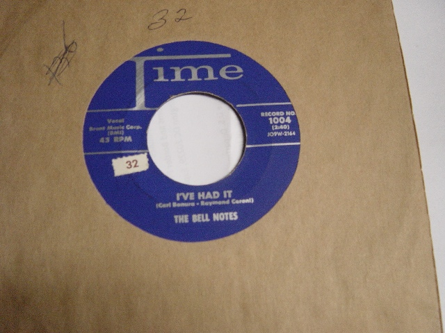 The Bell Notes - If I had / Be Mine - Time 1004 Mint Minus