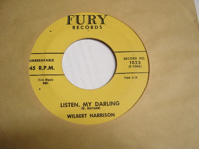 Wilbert Harrison - Kansas City - Fury 1023 Mint Minus