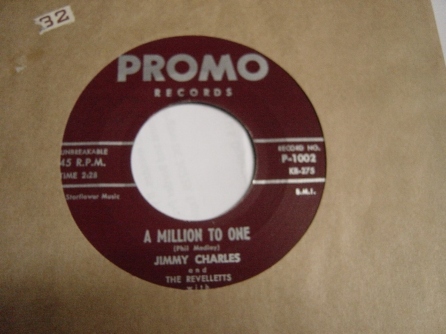 Jimmy Charles - Million to One - Promo P.1002 Mint Minus