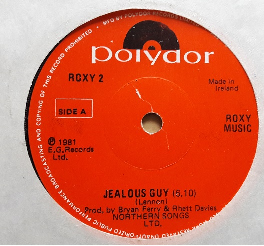 Polydor Roxy.2 - Roxy Music - Jealous Guy 1981 Irish