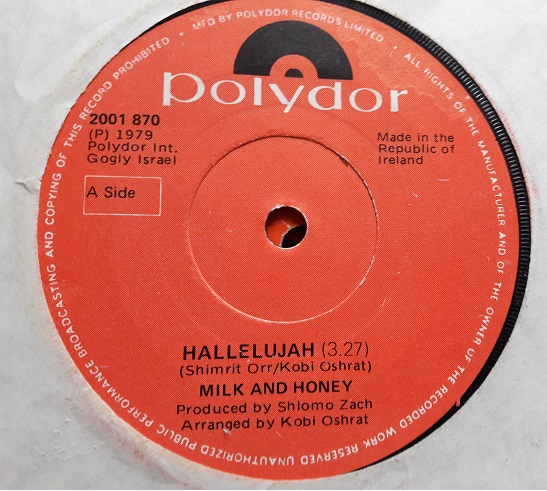 Polydor 2001870 - Milk & Honey - Hallelujah 1979 Irish Ex