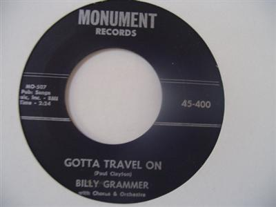 BILLY GRAMMER - GOTTA TRAVEL ON - MONUMENT 400 { 1928