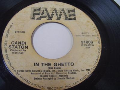 CANDI STATON - IN THE GETTO - FAME 91000 { 1962