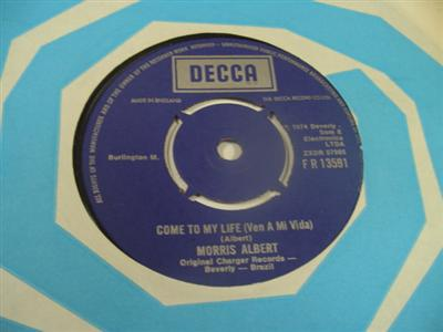 MORRIS ALBERT - COME TO MY LIFE - DECCA 13591 { 1965
