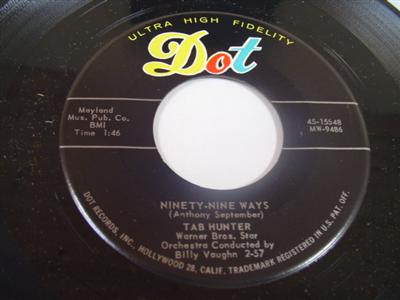 TAB HUNTER - NINETY NINE WAYS - DOT 15548 - { 1978