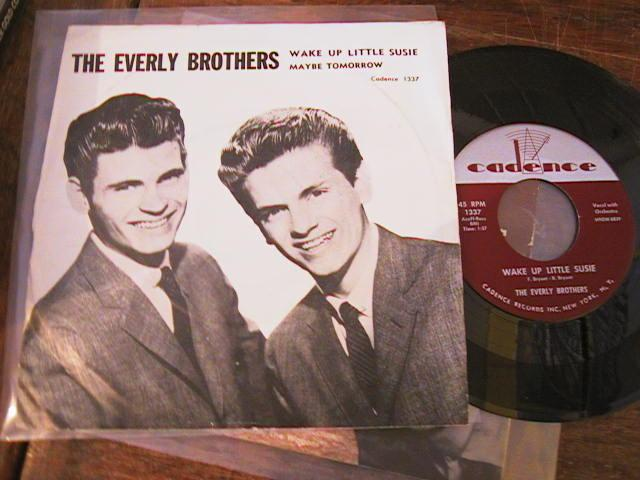 EVERLY BROTHERS - PS RARE 1950s CADENCE 1337 - { A 709