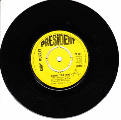 Ruby Murray - Change your Mind - President 1970