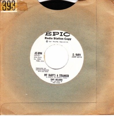 Tony Orlando - My Baby's a stranger - Epic USA Demo 1960s