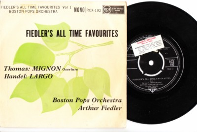 Arthur Fiedler & Boston Pops - Thomas & Handel - RCA UK 1960