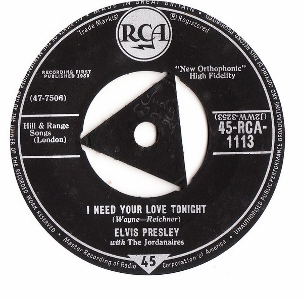 Elvis Presley - A fool such as I - RCA 1113 - UK